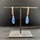 Thumbnail: Blue Kyanite, Swarovski Crystal, and Copper Threader Earrings