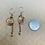 Thumbnail: Citrine and Copper Orb Dangle Earrings