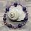 Thumbnail: Amethyst & Copper Stretchy Bracelet Set