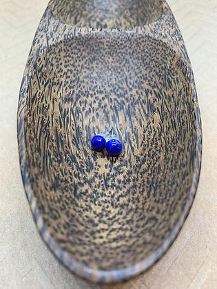 Hypoallergenic Lapis Lazuli Stud Earrings