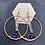 Thumbnail: Large Quartz Points and Amethyst Hoop Earrings