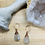 Thumbnail: Rutilated Quartz and Copper Tear Drop Earrings