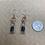 Thumbnail: Garnet Chip Filled Bottle Earrings