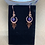 Thumbnail: Amethyst and Hammered Copper Earrings