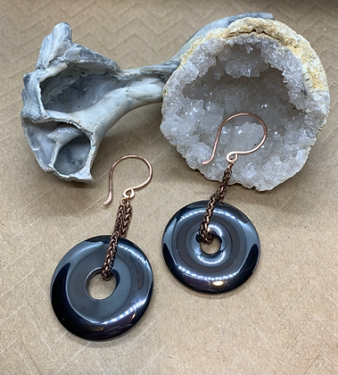 Hematite and Copper Ear Weights