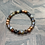 Thumbnail: Faceted Fire Crackle Agate Stretchy Bracelet