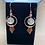 Thumbnail: Citrine Orb and Hammered Copper Earrings