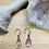 Thumbnail: Lavender Amethyst and Copper Tear Drop Earrings