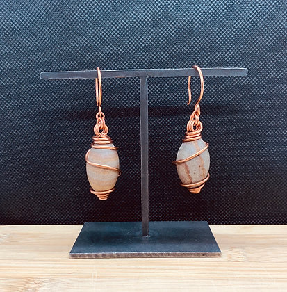Shiva Lingam Stone and Copper Tunnel Hangers