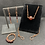 Thumbnail: Garnet and Copper Jewelry Set