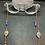 Thumbnail: Lapis Lazuli, Garnet, and Copper Eyeglass Chain   Mask Chain