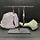 Thumbnail: Labradorite, Rose Quartz and Copper Feather Charm Earrings