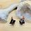 Thumbnail: Obsidian and Copper Merkaba Earrings