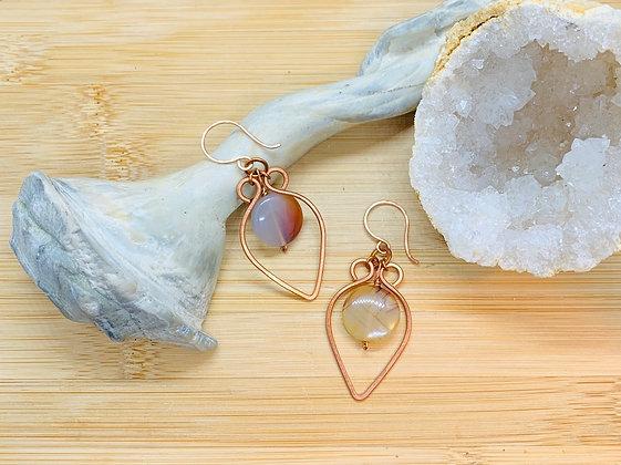 Carnelian and Copper Earrings