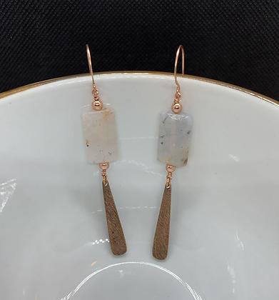Garden Quartz and Copper Earrings