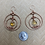 Thumbnail: Citrine Tear Drop Orbit Hoop Earrings