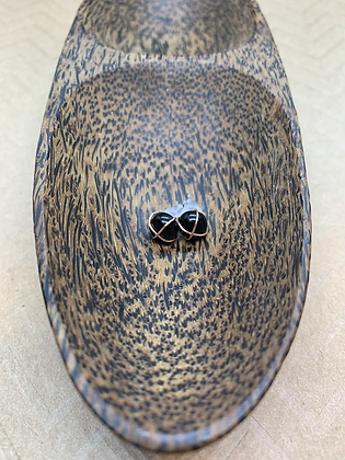 Hypoallergenic Onyx Stud Earrings