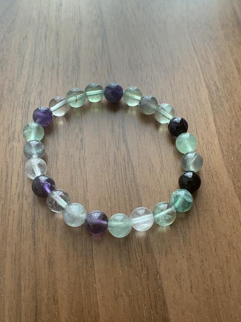 Fluorite Multiperles (vertes, violettes, claires)