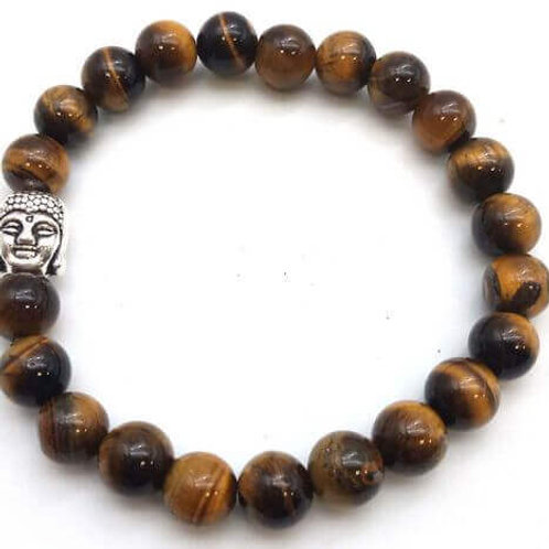 Bracelet OEIL DU TIGRE +Bouddha Charm