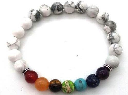 Bracelet HOWLITE +7 chakras