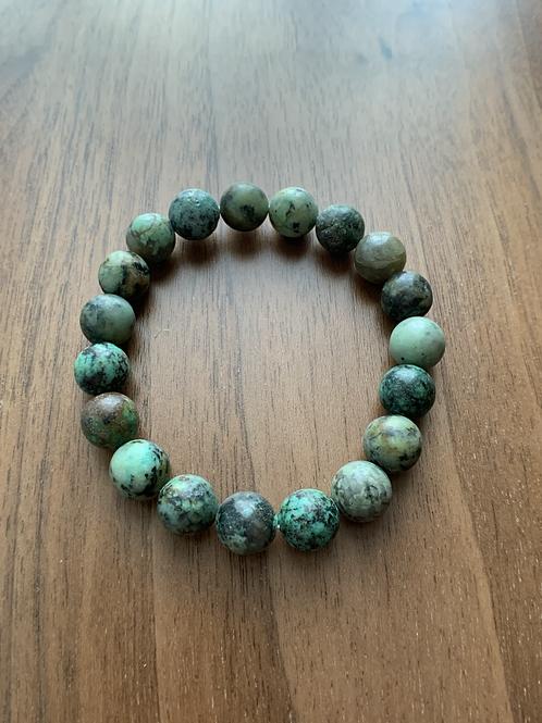 Bracelet Turquoise africaine- 10 mm