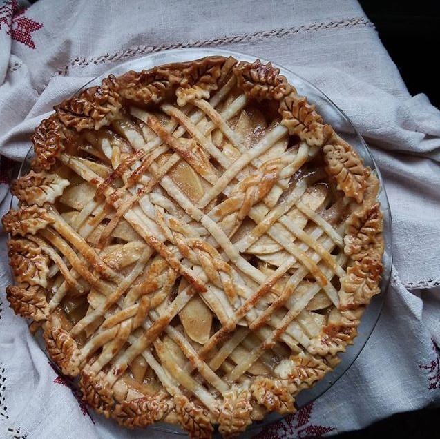 Perfect day for #applepie #lattice  #pie