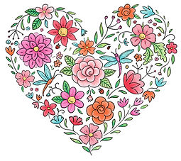 Floral Heart Artwork