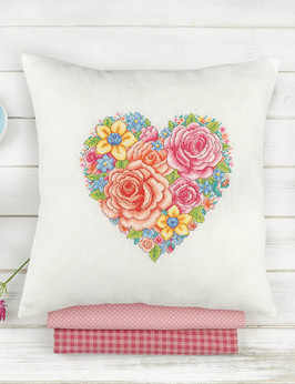 Floral Heart Cushion