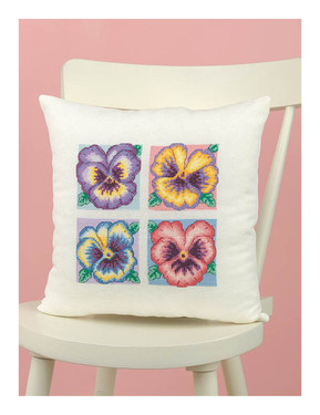 Pansies Cushion