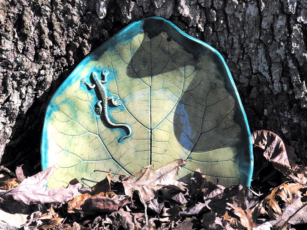 Leafy lizard - by Kathy Phillips