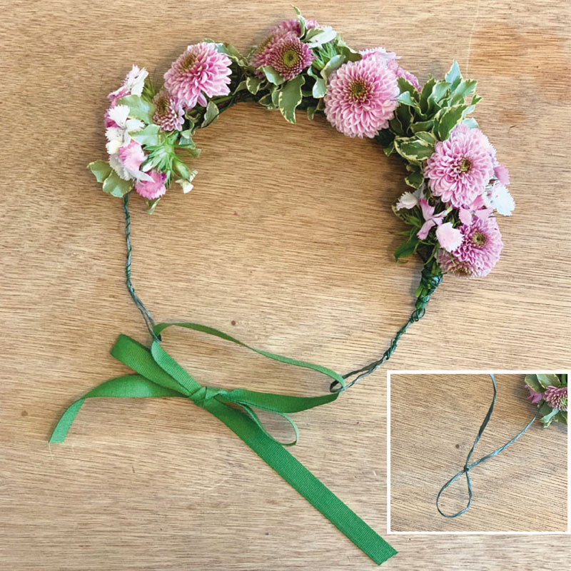 coroncina fiori freschi matrimonio