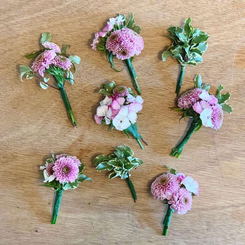 Coroncina fiori freschi fai da te