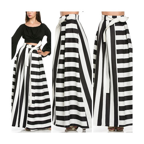 Black and White Maxi Skirt