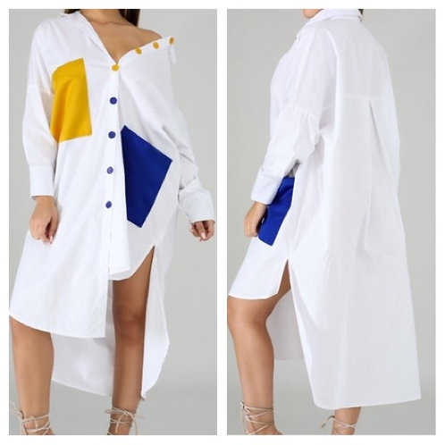 Two Faced Oversized Shirt Dress