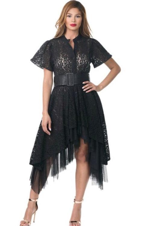 LACE SHIRT DRESS (XL ONLY)
