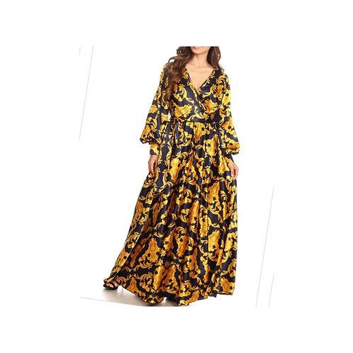 Chain Print Maxi Dress