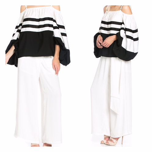 WIDE LEG WRAP PANTS