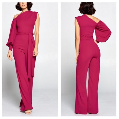 All Yours Magenta Jumpsuit