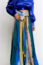 Colorblock Belted Maxi