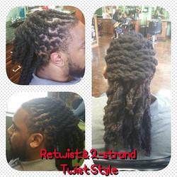 Two Strand Twist Loc Style