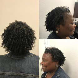 Comb Coil Out on Fine Hair