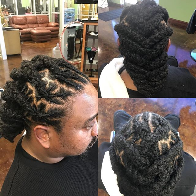 Plaited Locs in a Fishtail