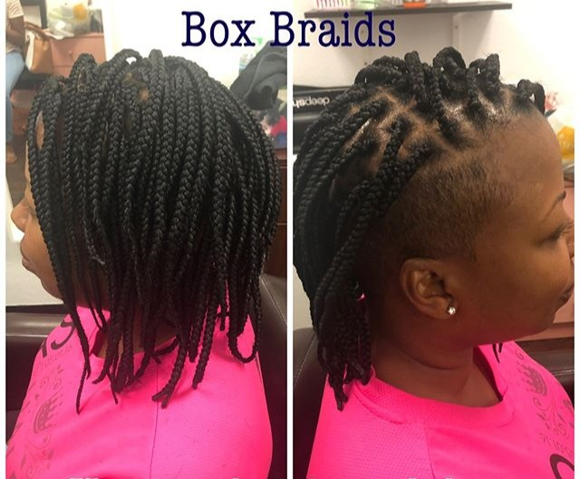 Box Braids on Mohawk