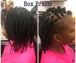 Box Braids on Mohawk