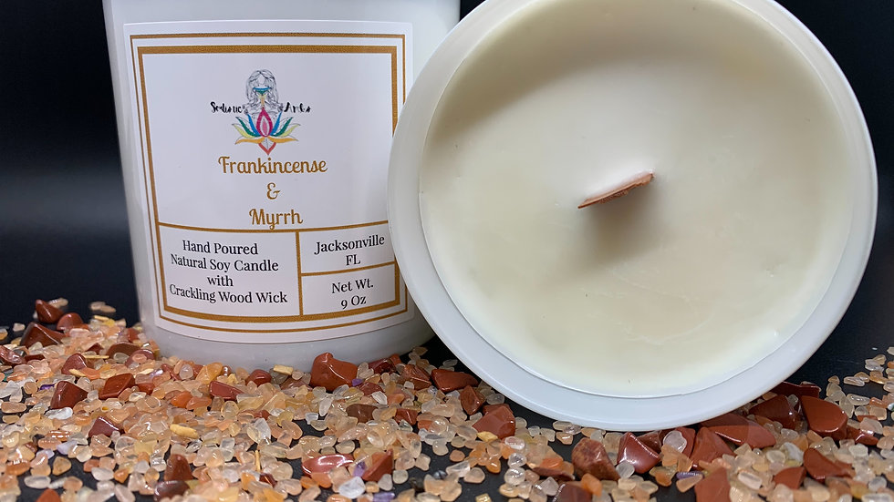 Frankincense & Myrrh Natural Soy Candle