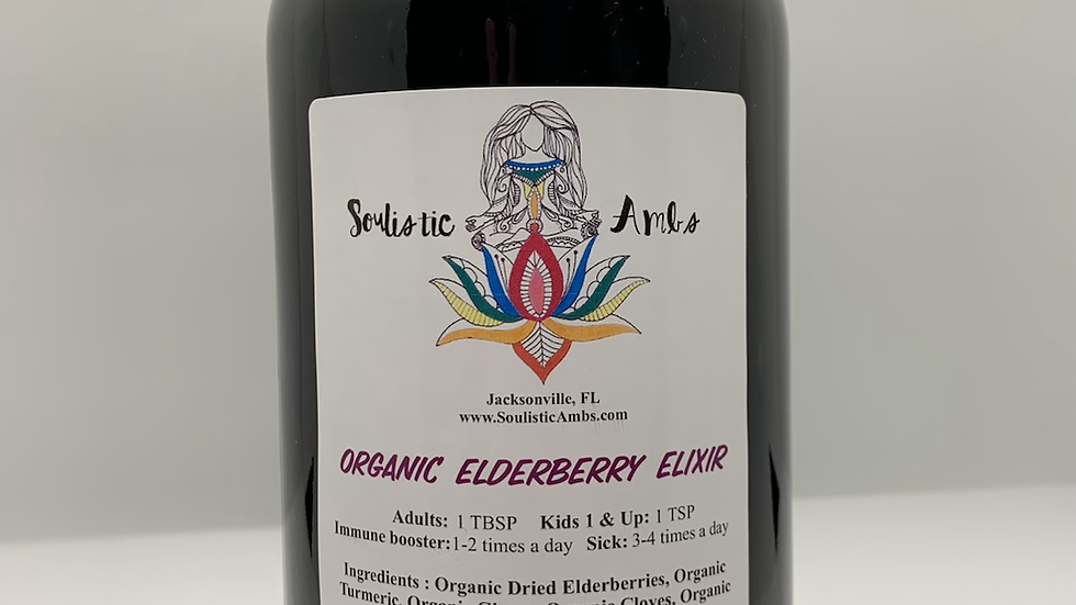 32 oz - Organic Elderberry Elixir