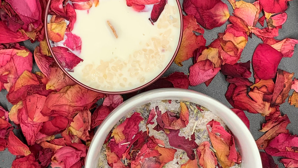 Rose Petal Gelato - Self-Love Candle & Soak