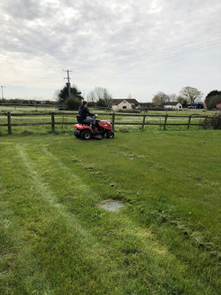 Jack Mowing the Grass