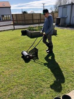 Cutting the Reach Lawn