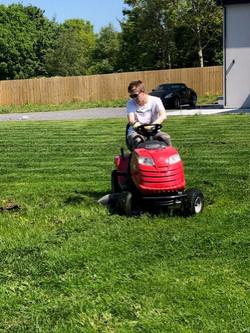 Cutting the grass